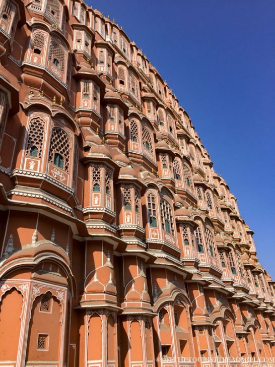 Cities in One of the World's Golden Triangles Hawa-Mahal-Jaipur