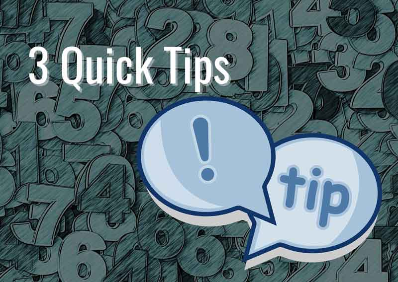 3-Quick-Tips