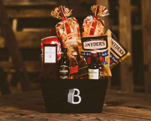 Retirement Gifts for Coworkers-Scotch-basket